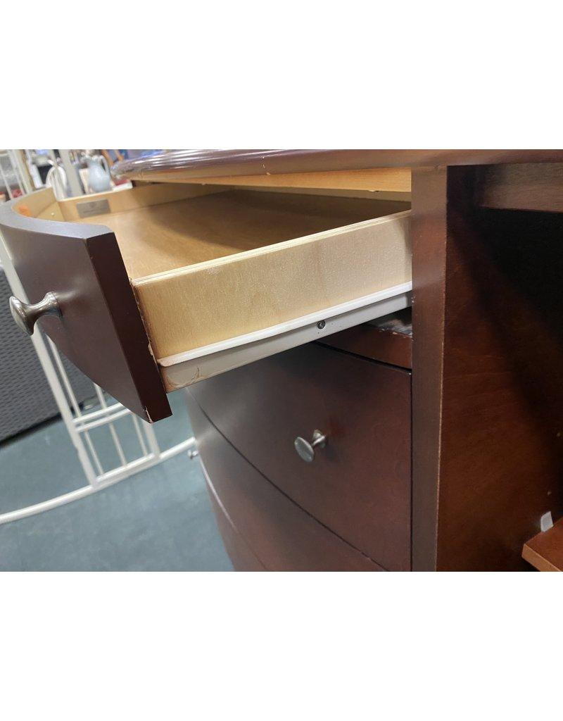 Dark Wood Buffet w/ Door and Drawers