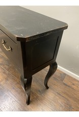 Black Queen Anne Sofa Table w Drawers