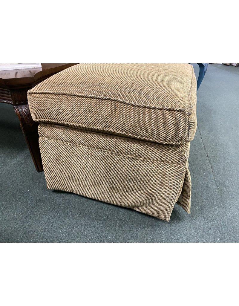 Brown Upholstered Ottoman