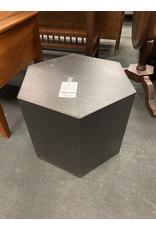 Dark Brown Metal Hexagon Outdoor Table