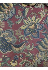 Maroon Floral 3 Cushion Couch