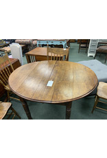 Dark Wood Drop Leaf Dining Table