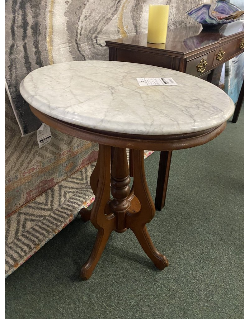 Marble Top Victorian Parlor Table