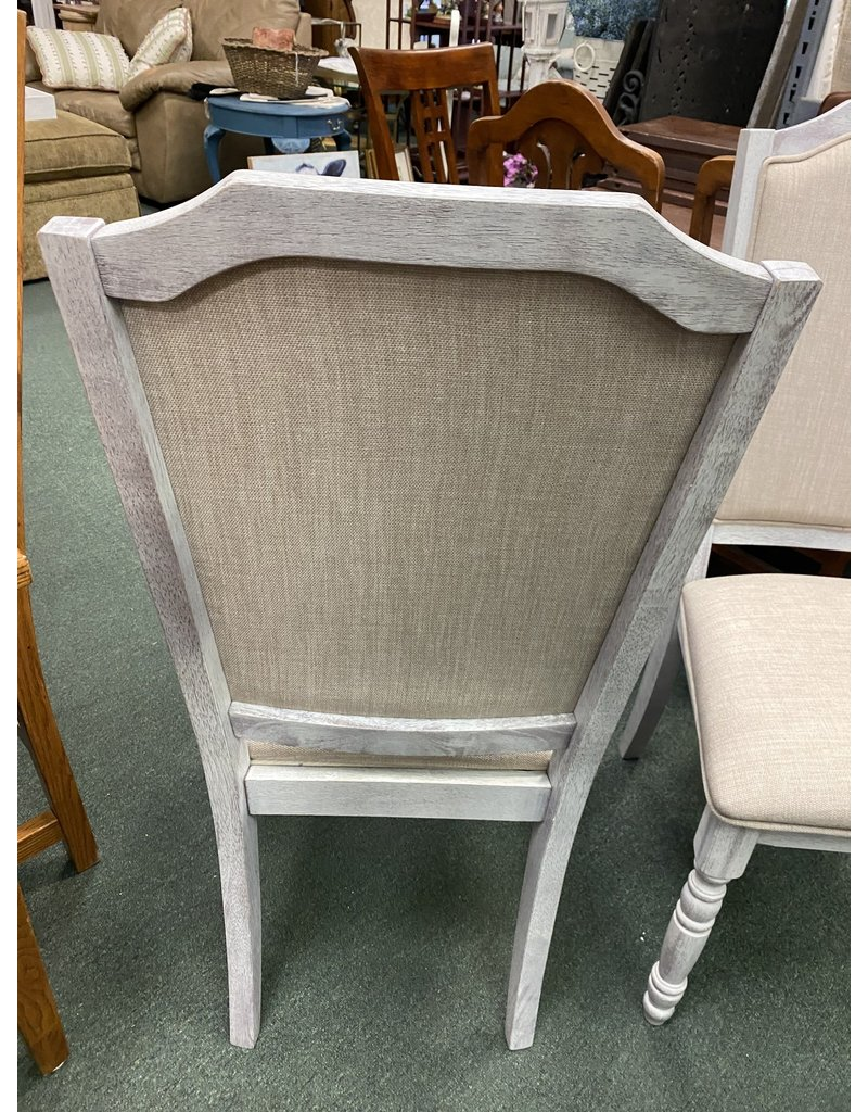 Pair of Gray and Tan Upholstered Chairs