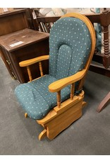 Small Kids Glider w/ Green Upholstery