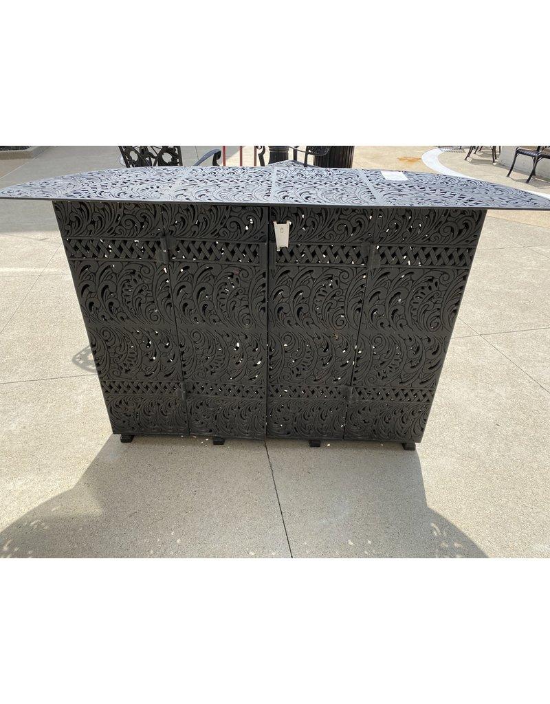 Cast Iron Decorative  Bar w/Cabinet