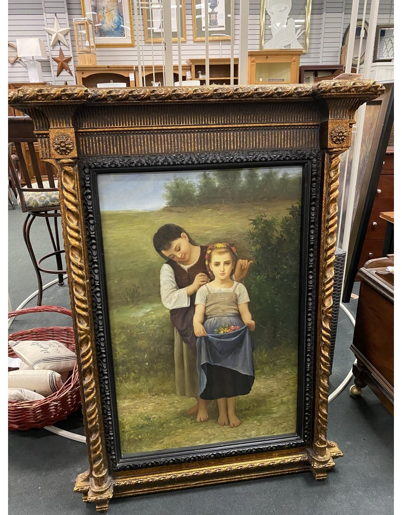 Ornate Framed Painting with Two Children