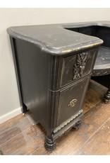 Black Painted Vanity Desk