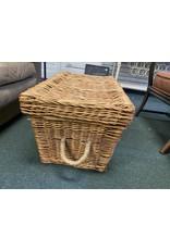 Large Wicker Basket w/ Metal Clasps