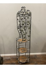 Grape Themed Tall Metal Wine Bottle Stand