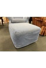 Denim Rocking Chair w/ ottoman