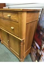 Antique Tall 3 Drawer over 2 Door Cabinet/Dresser