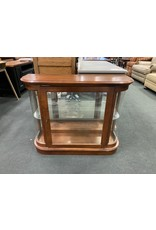 Small Pine Curio w/ Glass Shelf