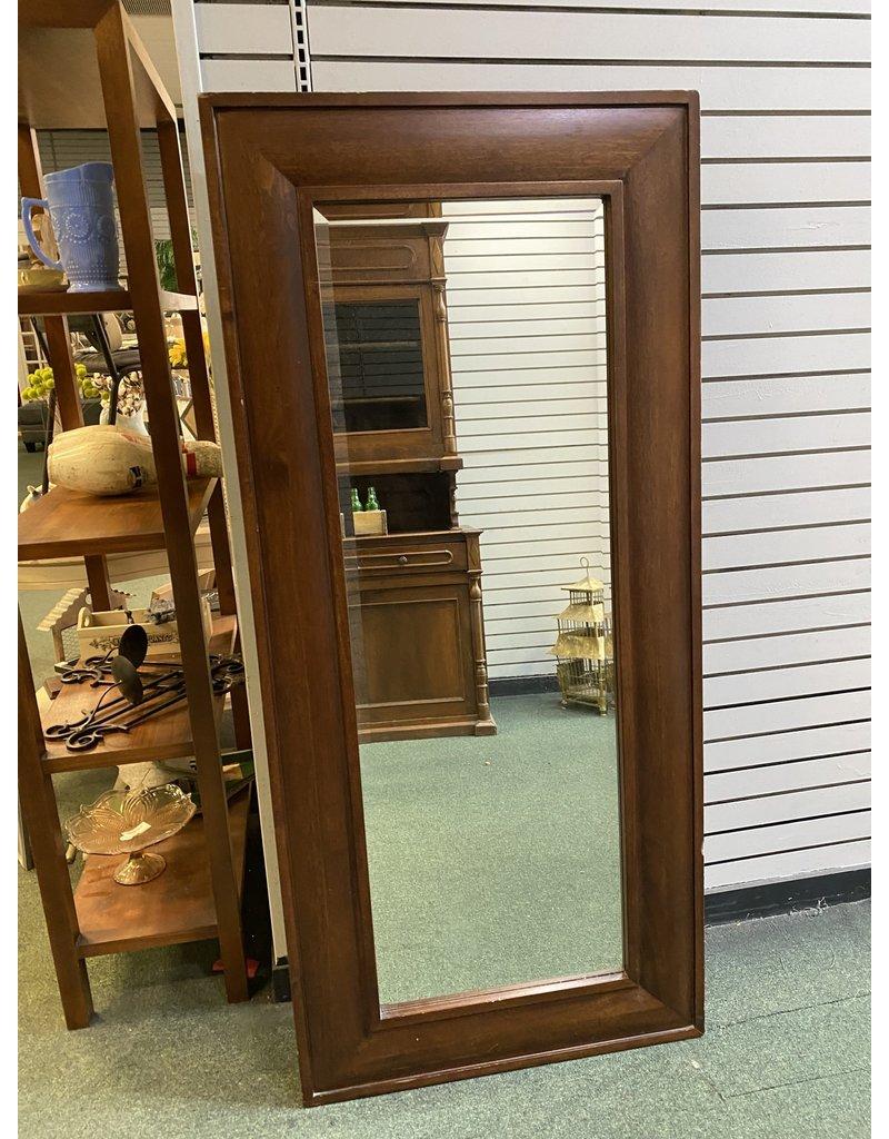 Dark Wood Floor Mirror