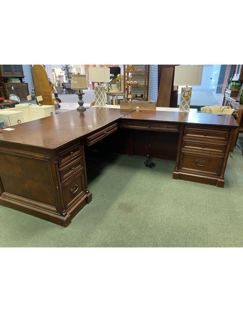 L shaped Dark Wood Executive Desk
