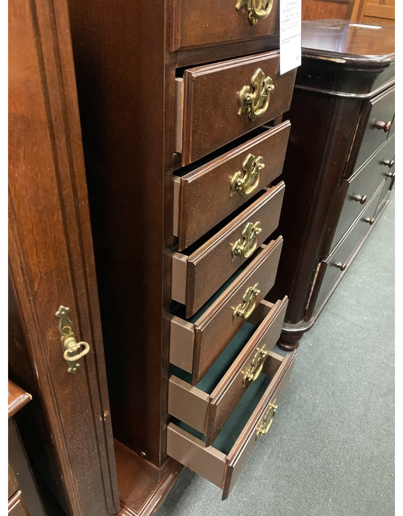 Queen Anne Style Jewelry Chest with 6 Drawers