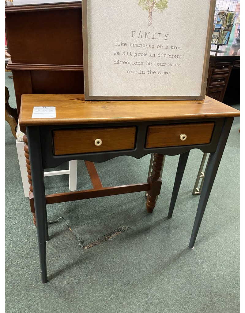 Primitive Small Sofa Table w/ 2 Drawers