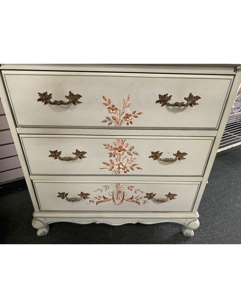 Teal Hand Painted Drop Front Secretary by Jasper
