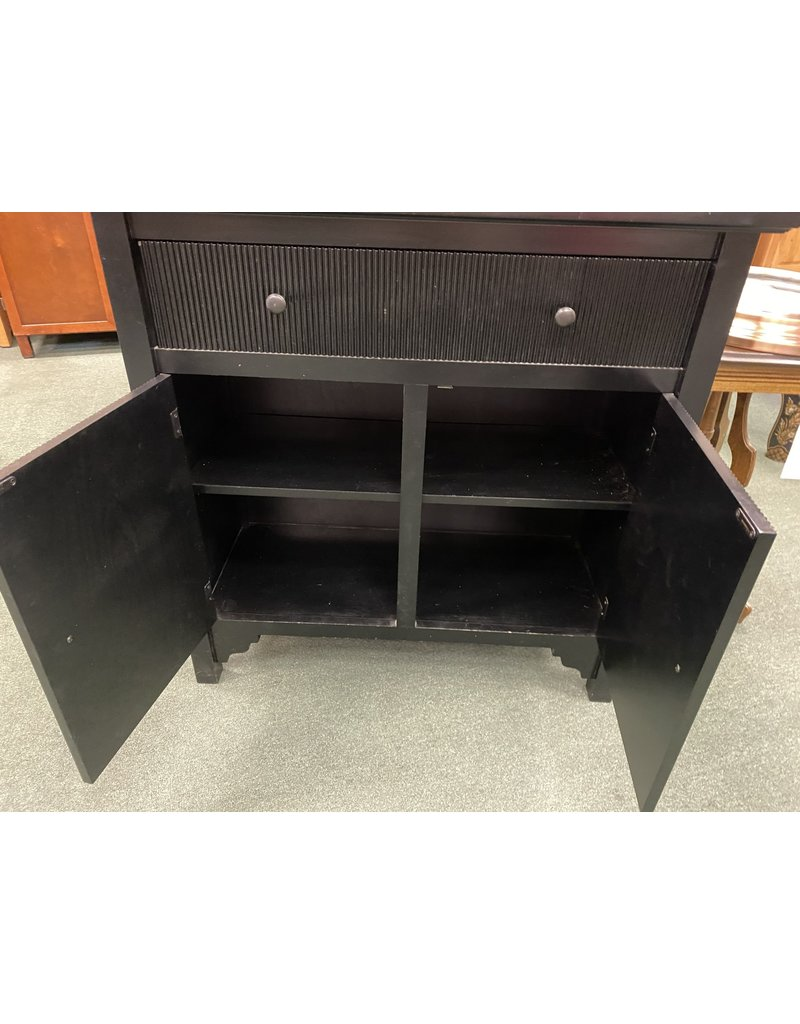Black Buffet w/ Drawer and 2 Doors
