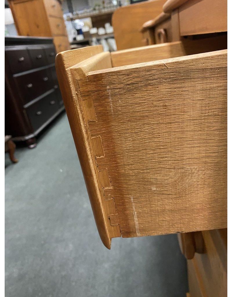 Blonde Solid Wood Vanity w/Leaf Motif