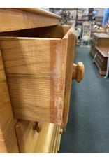 Blonde Solid Wood 5Drawer Chest w/Leaf Motif