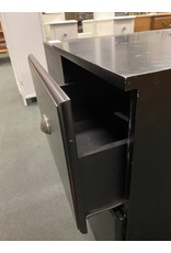 Black File Cabinet with 2 Drawers