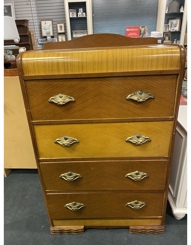 Waterfall Style 5 Drawer Chest