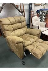 Oversized Upholstered Brown Recliner