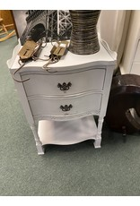 Gray Federal Style Night Stand w/ 2 Drawers