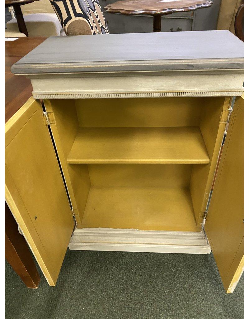 Small 2 Tone Gray Cabinet w/ Doors