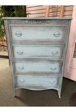 Teal Painted 4 Drawer Dresser