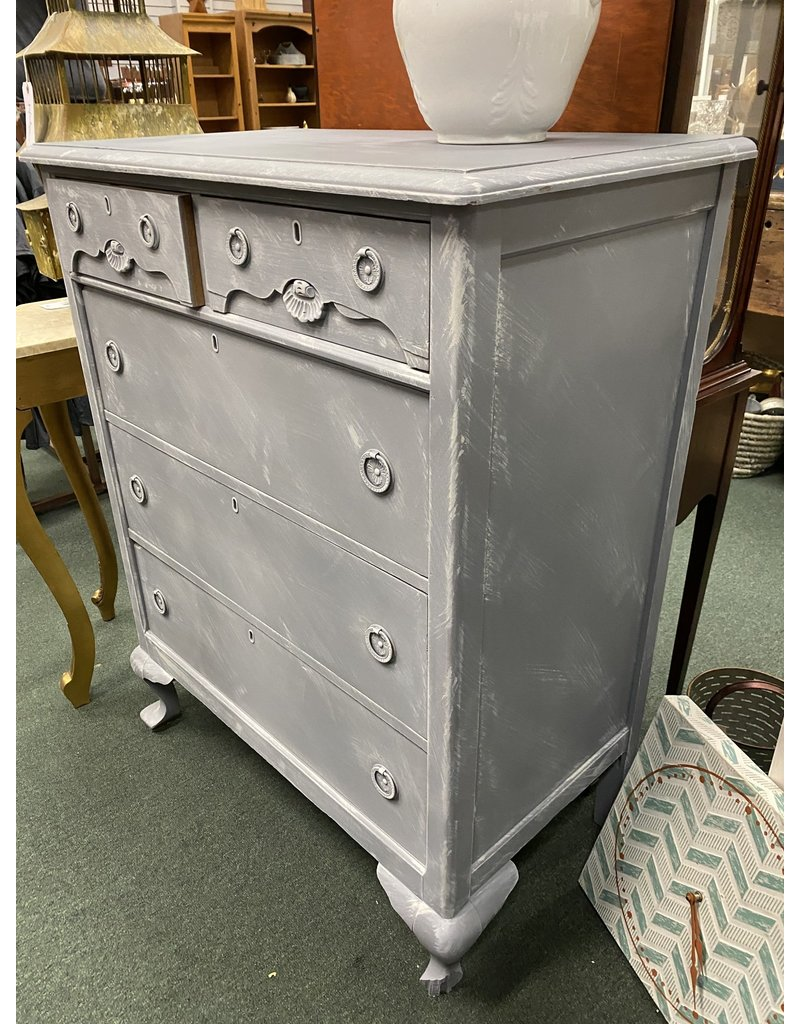 Gray Painted  1940's Style Chest