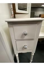White Painted Tri Fold Vanity w/ 4 Drawers