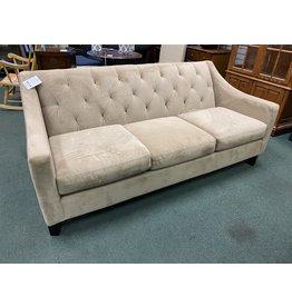 Tan Upholstered Modern Style  Sofa