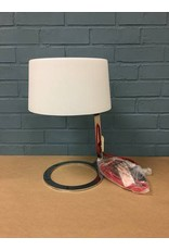 Scarlet Modern Chrome Table Lamp w Glass Shade