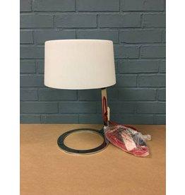 Scarlet Modern Chrome Table Lamp w Glass Shade