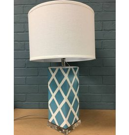 "Safavieh Benton 27"" Teal and White Table Lamp"