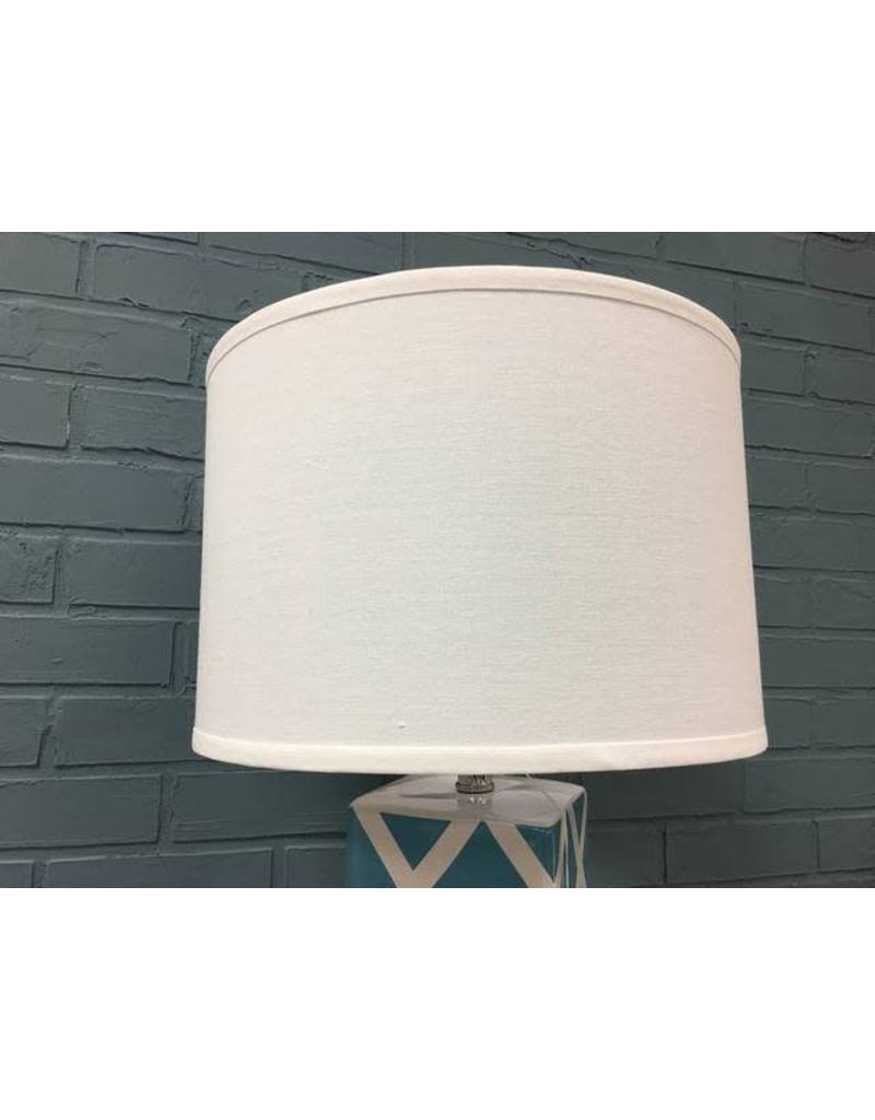 "Safavieh Benton 27"" Teal and White Table Lamp"