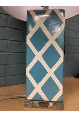 "Benton 27"" Teal and White Table Lamp"
