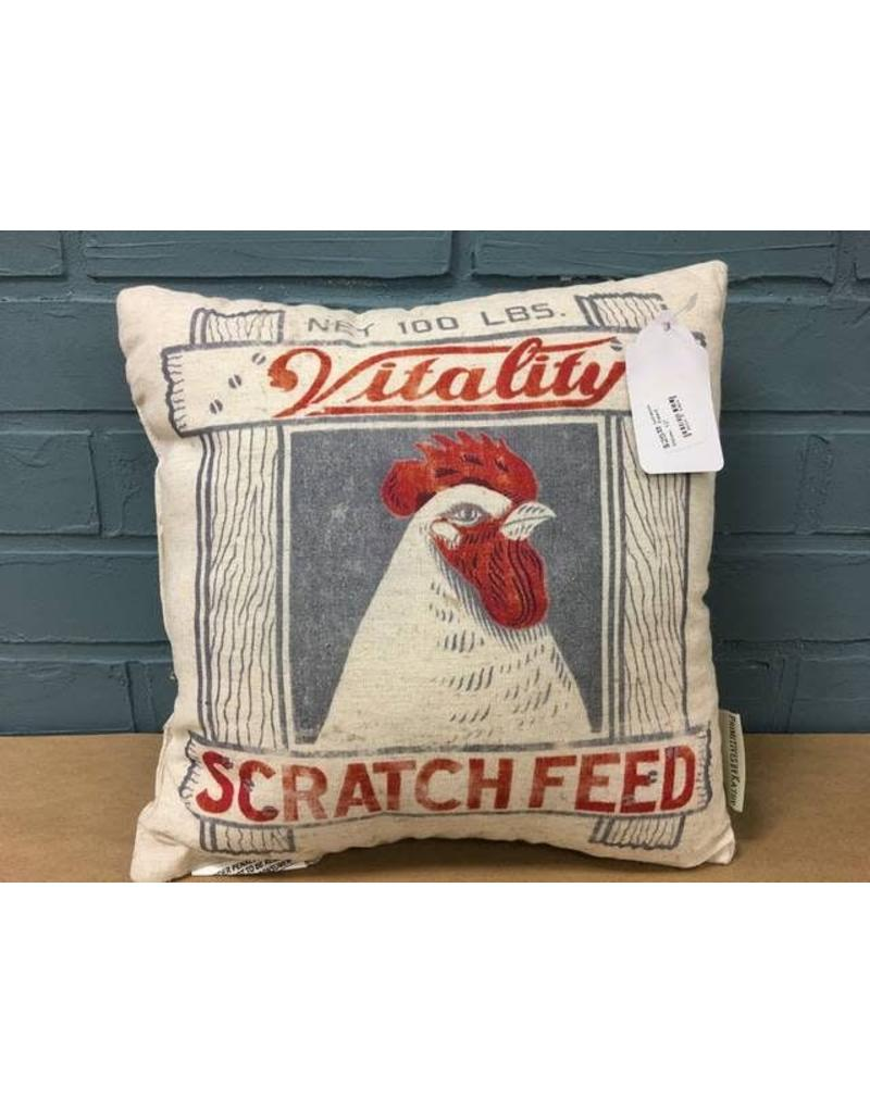 Scratch Feed Pillow, 12""