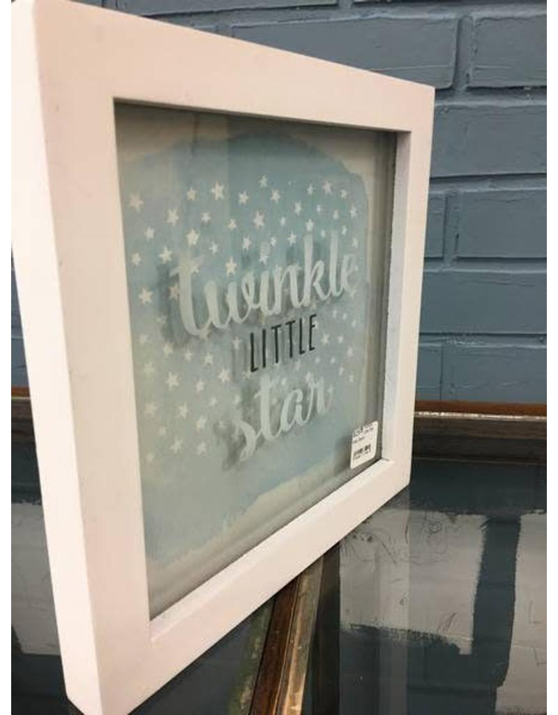 Twinkle Little Star Wall Decor Framed