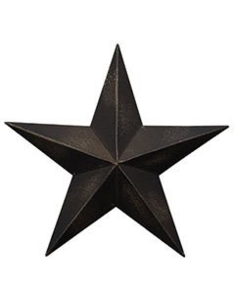 CWI Gifts Antique Black Barn Star 12""