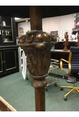 Vintage Brass Floor Lamp w/ Black Shade