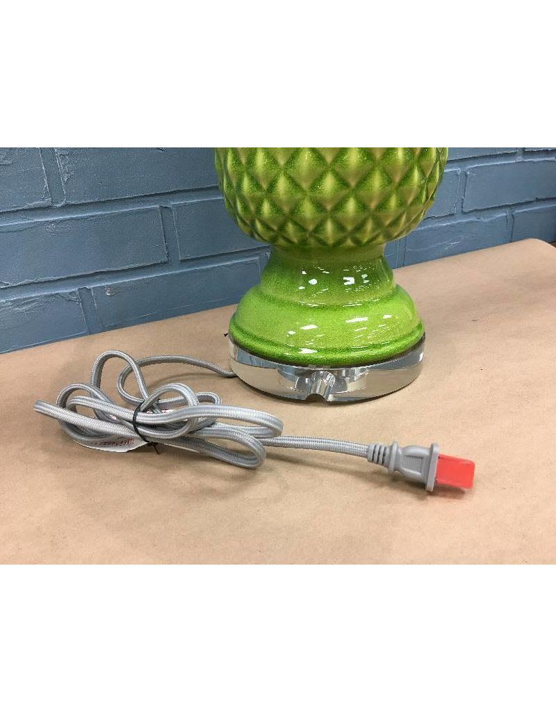 Bay Isle Home Green Biscayne Pineapple Glass Lamp