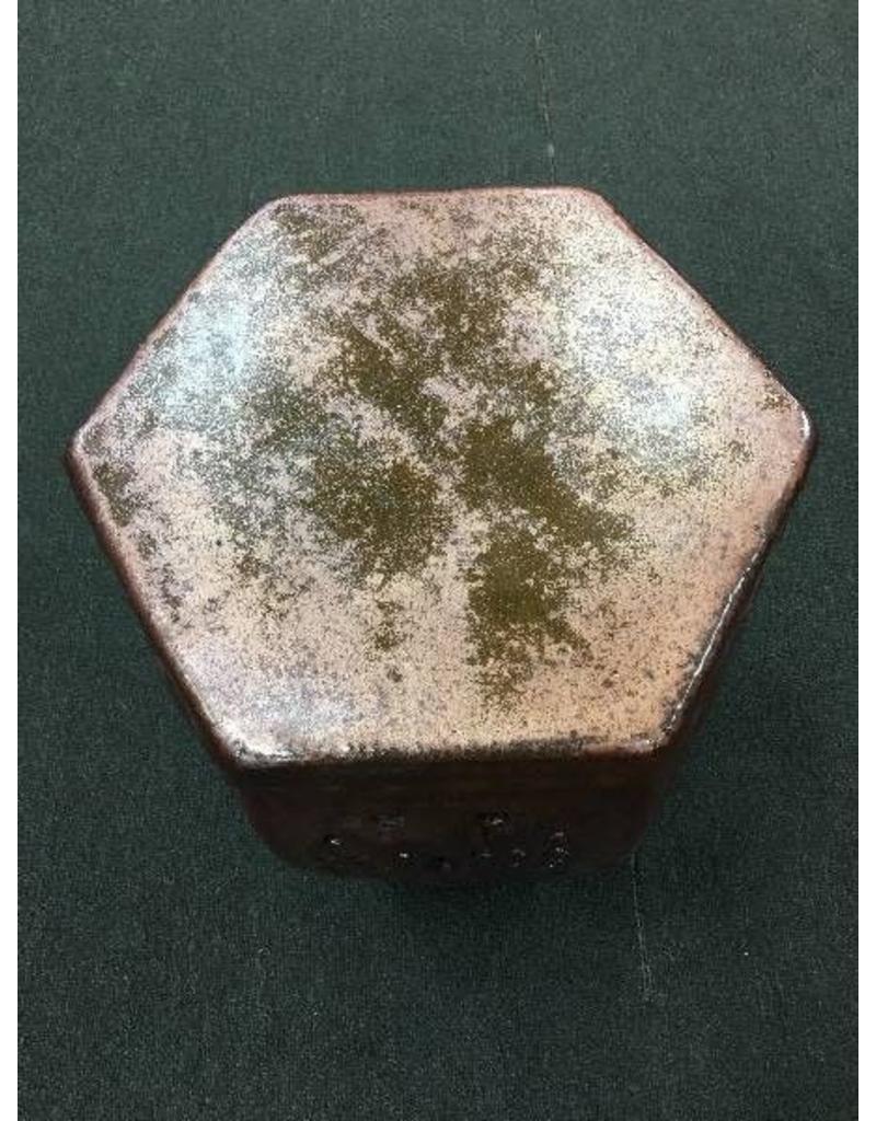 Emissary Cinnabar Hexagon Garden Stool