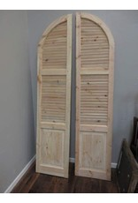 Pair of Tall Arch Top Unfinished Shutters