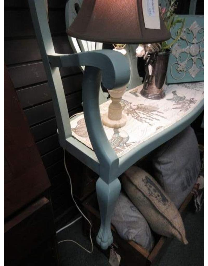 repurposed Shelf Made from a Bench