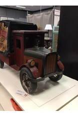 Vintage Wooden Toy  Delivery Truck