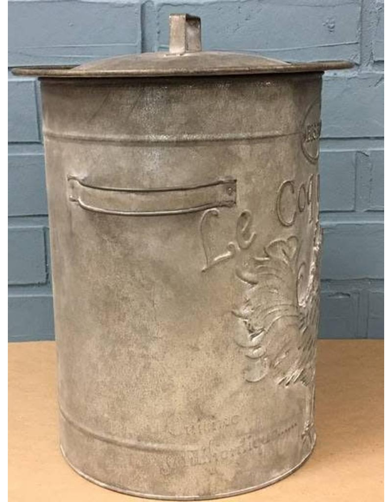 """CWI Gifts 13"""" Rooster Metal Canister"""