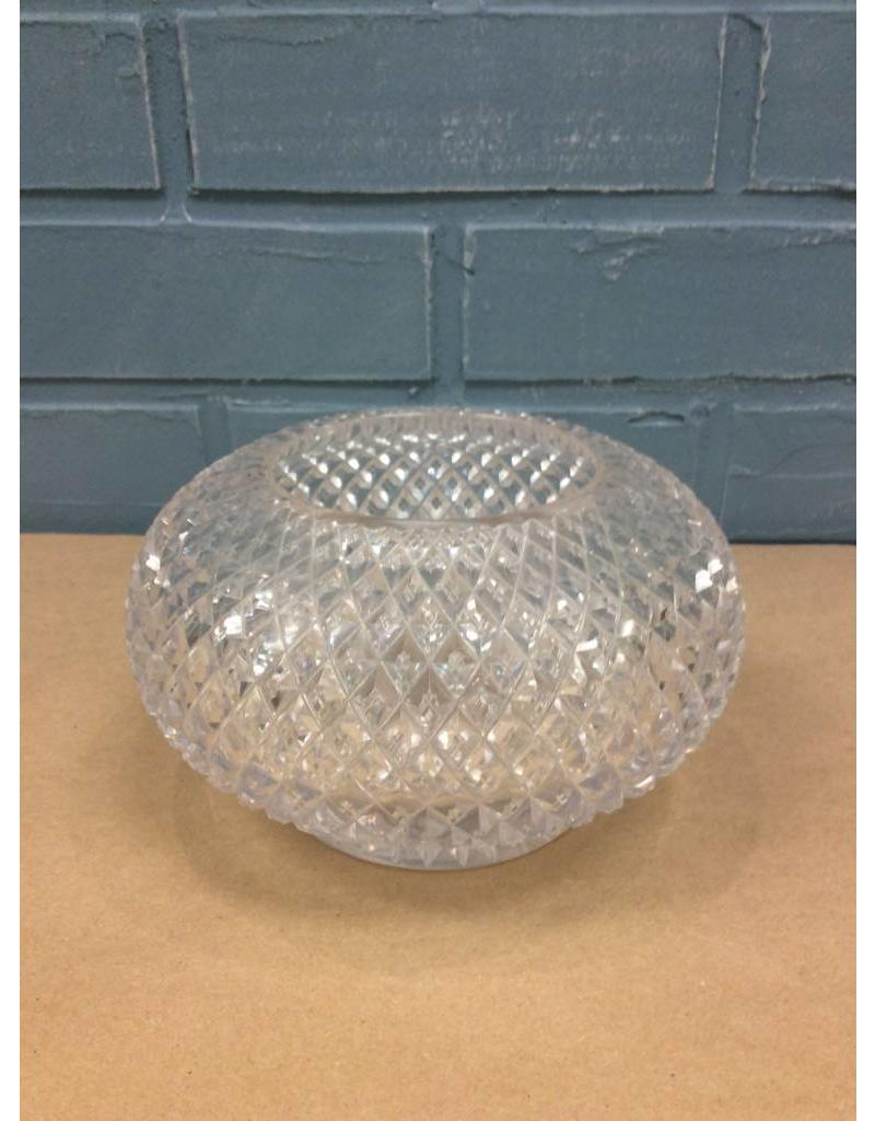 Pressed Glass English Hobnail Rose Bowl
